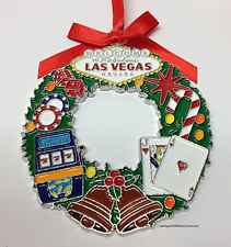 Welcome To Las Vegas Sign Christmas Tree Holiday Hanging Ornament Wreath Slots