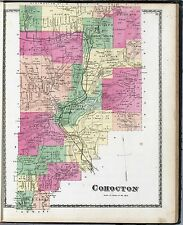 1873 Stuben County New York maps old plat Genealogy Atlas Land Ownership Dvd P33