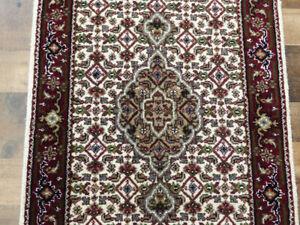 2'x10' New Finest Hand Knotted wool & Silk fish Tabrizz Mahi Dense rug runner