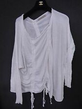 ALLSAINTS Plume White Overized Baggy Distressed Jumper