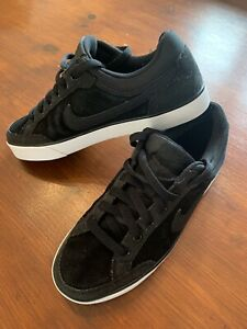 Ladies Black Suede Nike Trainers, Size UK 4.5, Excellent Condition Barely Worn