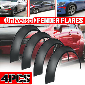 4x 84cm Extra Wide Flexible Car Wheel Fender Flares Arches For Universal Auto