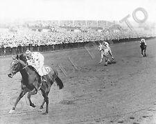 NASHUA 1955 BELMONT STAKES WINNER EDDIE ARCARO UP 8X10 HORSE RACING PHOTO