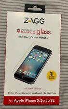 Zagg Invisibleshield Glass Screen Protector for iPhone 5 / 5s / 5C / SE - Clear
