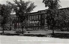 C63/ McIntosh Minnesota Mn Real Photo RPPC Postcard c50s School Building