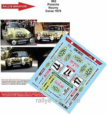 DECALS 1/43 REF 882 PORSCHE 911 NOURRY TOUR DE CORSE 1979 RALLYE RALLY WRC