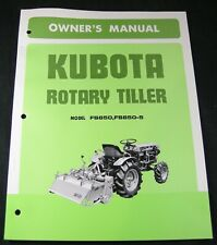 Kubota Rotary Tiller Fs850 Fs850 5 Owners Maintenance Parts Manual Book Catalog