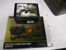 FOX CARP ROYALE DELUXE SYSTEM FOX BOX medium COMPLETE free ngt gas stove