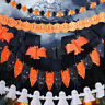 2X Halloween Decor Hanging Decorations Ghost Banner Paper Garland Party Supplies