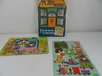 Two Vintage BBC Play School Jigsaws 1970 Arrow Games