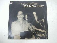 MANNA DEY GREAT FILM HITS dekh kabira roya parineeta upkar 1969 LP bollywood VG+