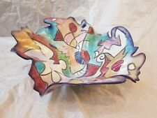 Harris Cies Art Pottery Bowl Centerpiece design c-1998