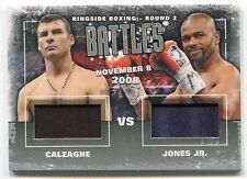 Joe Calzaghe Roy Jones Jr. 2011 Ringside Boxing 2 Battles Trunks /50 *AA363