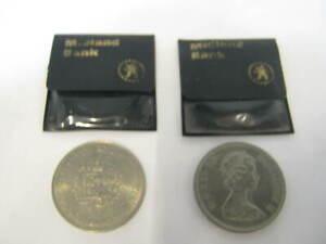 2 X ELIZABETH & PHILIP 1947-1972 COINS