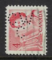 Perfin C46-CW/C: 4c Carmine QEII Centennial 457-4, Canadian Westinghouse Company