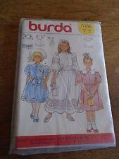 "PATRON  ""BURDA ROBE DE CEREMONIE ELEGANTE ET CHIC  T 4 A 12 ANS  N°5166 NEUF"