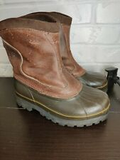 Sorel Kittson Premium Pull On Boots Mens Size 8 D Brown Leather Little Wear