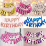 "Self Inflating 16"" Foil Letters BALLOONS Happy Birthday Ballons Kid Friend Gifts"