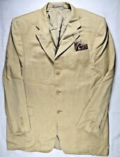 Hickey Freeman Madison Mens Blazer Suit-Jacket 44 L Wool Silk Linen USA-Made EUC