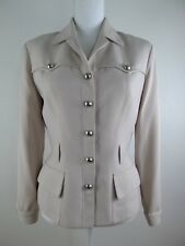 Vintage Thierry Mugler Women Fully Lined Beige Jacket Size 38