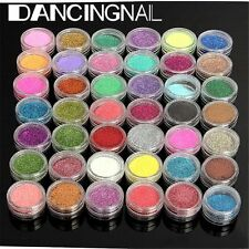 45 Pcs Mix Color Glitter Dust Acrylic Powder Set for Nail Art Shimmer Decoration
