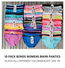 BRAND NEW 10 pack Bonds Womens Underwear Cotton Hipster Bikini Briefs Size 8-16