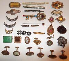Brooches Pins Pendants Cuff Links Gf Antique Vtg Lot Art Deco Nouveau Victorian