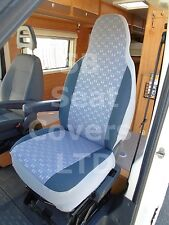 TO FIT A PEUGEOT BOXER MOTORHOME, 2014, SEAT COVERS, PASTICHE BLUE MH-027