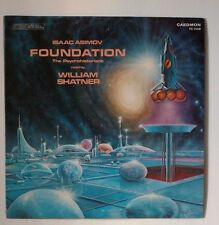 Isaac Asimov Foundation The Psychohistorian's record read by William Shatner LP