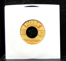 """Bobby Marchan - There's Something On Your Mind VG- 7"""" Vinyl Soul 1960 Fire 1022"""
