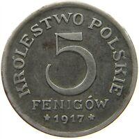 POLAND 5 FENIGOW 1917 #s16 427