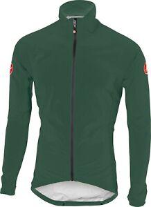Castelli Emergency Cycling Rain Jacket Size Large Forest Grey : SUPER LIGHT
