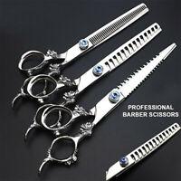"7.5"" Professional Barber Salon Razor Hair Cutting Thinning Scissors Shears 440c"