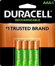 4 Duracell AAA Rechargeable NiMH Batteries (850 mAh, DX2400)