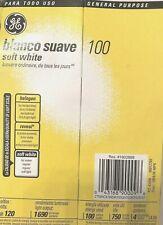 4 Pack 100 Watt GE Basic General Soft White Light Bulbs
