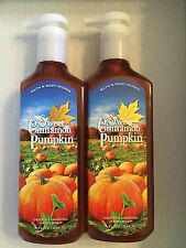 2 BATH BODY WORKS SWEET CINNAMON PUMPKIN DEEP CLEANSING HAND SOAP 8 OZ EACH
