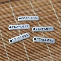 20PC Tibetan Silver Fearless Charm Pendant  Fit DIY Necklace/Bracelet Making