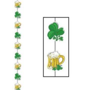 St. Patricks Day Party Supplies Hanging Mug & Clover Stringer Decoration