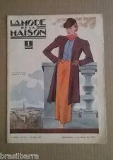 """REVUE """"LA MODE ET LA MAISON"""" 2ème Année n° 34 22 août 1937"""