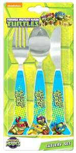 Ninja Turtles Cutlery Set Child Knife Fork Spoon - TMNT 100% Official Product