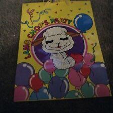 Lamb Chop's Party Gift Bag Present Birthday Bag Shari Lewis Yellow Baloons Lamb