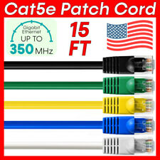 New Listing15 Ft Cat5e Cable Lan Ethernet Cat5e Patch Cord Rj45 Router Cable Network Wire