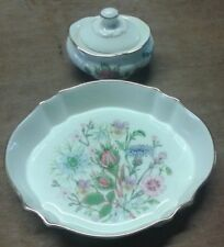 AYNSLEY WILD TUDOR DISH & LIDDED POT.