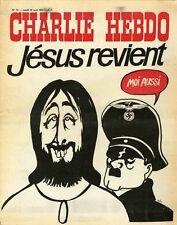 """CHARLIE HEBDO N°73 du 10/4/1972"" CABU : JESUS REVIENT"