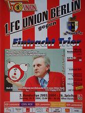 Programm 2003/04 Union Berlin - Eintracht Trier