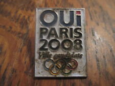 pin's oui paris 2008 ville candidate (sans attache)