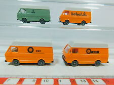 av175-0,5 #4x WIKING H0 Trasportatore VOLKSWAGEN / VW LT 28: WMR + GAS + LEVA ,