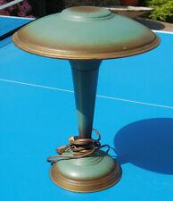 ANCIENNE LAMPE CHAMPIGNON TOLE VERTE VINTAGE  ORIGINALE LOFT