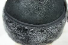 NEW100% Sheepskin Shearling Leather Trapper Elmer Fudd Hunting Aviator Hat M-3XL