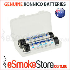 2 x Ronnico Button Top 3400mAh 3.7V Protected Panasonic NCR 18650 B Batteries
